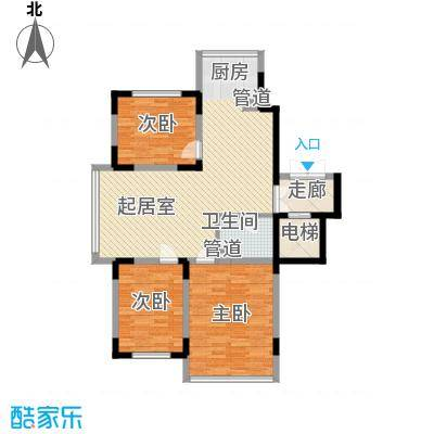 长江花园113.96㎡长江花园户型图3室2厅1卫户型10室
