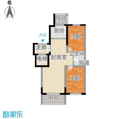 长江花园107.97㎡长江花园户型图2室2厅1卫户型10室