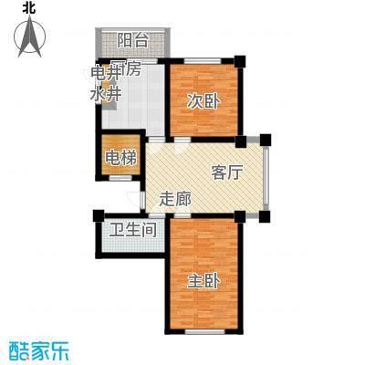 东方之珠龙兴苑95.06㎡四期G户型2室1厅1卫