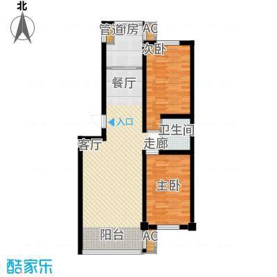 东方之珠龙兴苑95.69㎡B户型2室2厅1卫