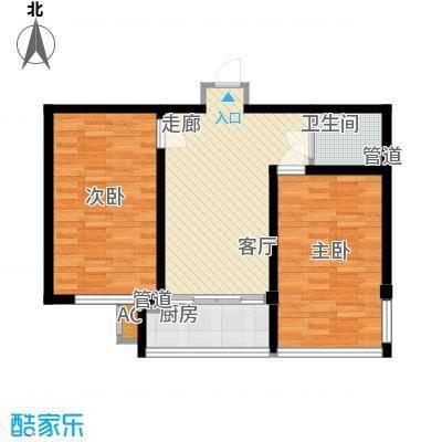 东方之珠龙兴苑78.21㎡G户型2室1厅1卫