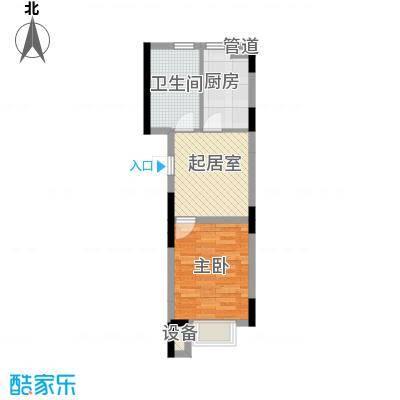 天成领寓42.33㎡户型图GK2户型2室1厅1卫