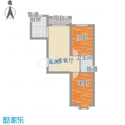 东皇先锋81.03㎡D户型2室2厅1卫
