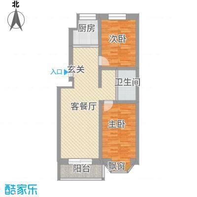 丽江花园丽江花园户型图2室1厅1卫1厨户型10室
