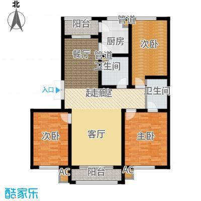 阳光帝景134.00㎡阳光音域户型3室2厅2卫1厨