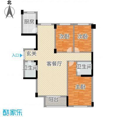 武夷天琴湾148.12㎡武夷天琴湾户型图3室2厅2卫户型10室