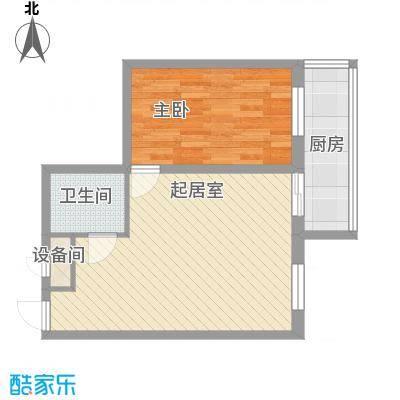 鸿基豪宅62.47㎡鸿基豪宅62.47㎡1室1厅1卫1厨户型1室1厅1卫1厨