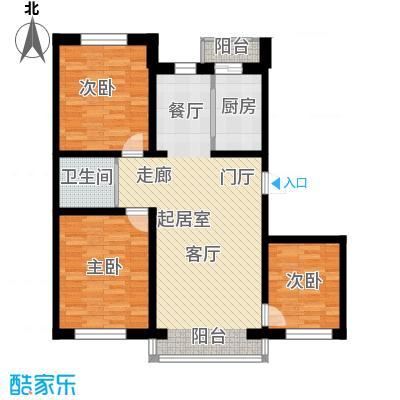 伟邦龙嘉小镇118.00㎡C户型3室2厅1卫