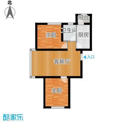 荣旺天下90.06㎡二期E2号楼D户型2室1厅1卫1厨