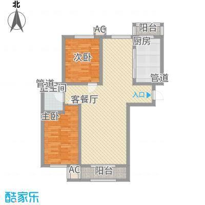 隆德帝景105.22㎡隆德帝景户型图12#高层A1户型图2室2厅1卫户型2室2厅1卫