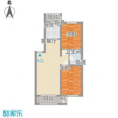 隆德帝景84.64㎡隆德帝景户型图B户型图2室2厅1卫户型2室2厅1卫