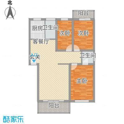 佳和苑113.00㎡佳和苑113.00㎡3室2厅2卫1厨户型3室2厅2卫1厨