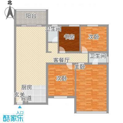 裕华公寓162.00㎡裕华公寓162.00㎡4室2厅2卫1厨户型4室2厅2卫1厨