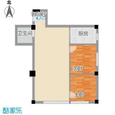 平和堂商贸大厦2室2厅户型2室2厅1卫1厨