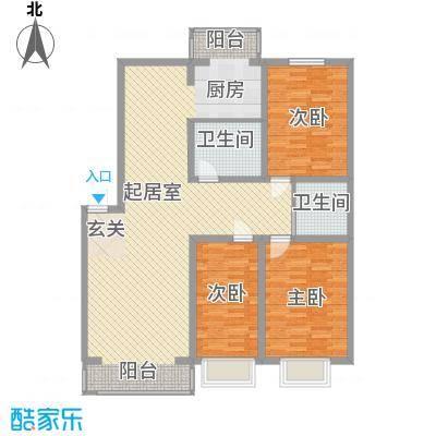 美韵星海121.50㎡C户型3室2厅2卫