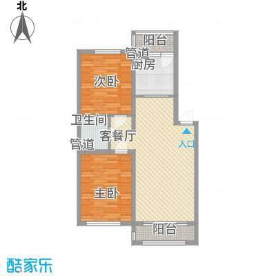 隆德帝景92.63㎡隆德帝景户型图4、6、8、10号楼A3户型图2室2厅1卫户型2室2厅1卫