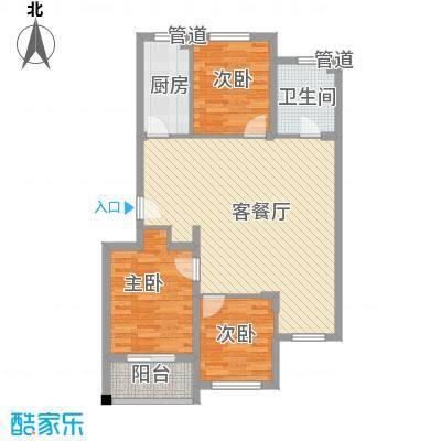 证大光明城105.00㎡二期小高层19号楼C户型3室2厅1卫1厨