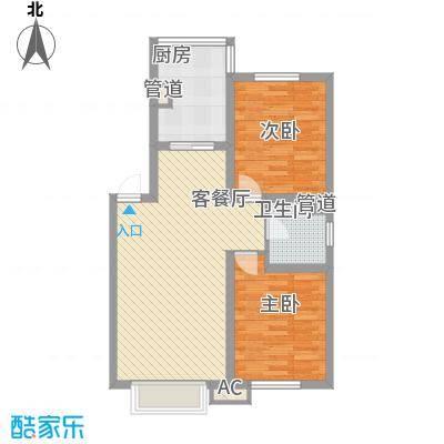 吴中印象82.30㎡二期A户型2室2厅1卫