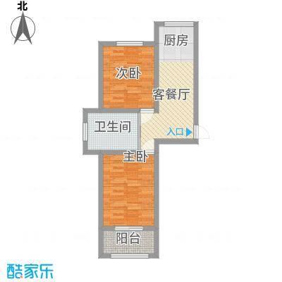 万龙第五城65.36㎡万龙第五城户型图户型图C2室1厅1卫户型2室1厅1卫