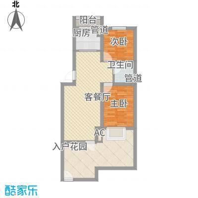 吴中印象85.00㎡6A首层户型2室2厅1卫