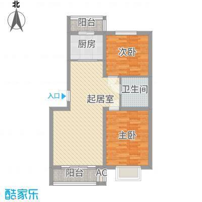 吴中印象92.00㎡6A1-2户型2室2厅1卫