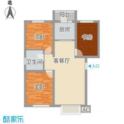吴中印象91.59㎡15A户型3室2厅1卫