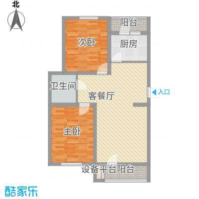 吴中印象95.45㎡9G户型2室2厅1卫