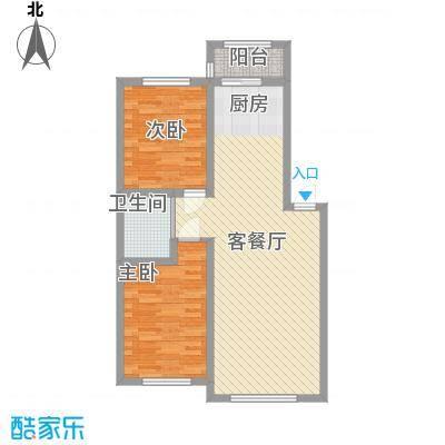 万龙第五城86.28㎡万龙第五城户型图户型图A2室2厅1卫户型2室2厅1卫