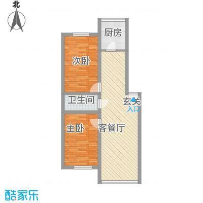 雁鸣湖山庄87.65㎡雁鸣湖山庄87.65㎡2室1厅1卫户型2室1厅1卫