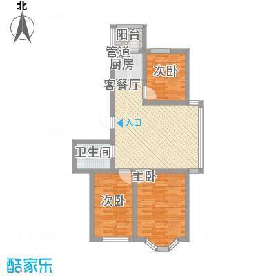 华泰世纪新城87.08㎡华泰世纪新城户型图二期G户型3室2厅1卫户型3室2厅1卫