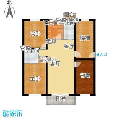 金美程家园118.75㎡G1户型3室2厅2卫