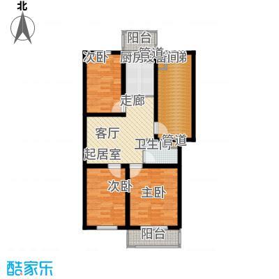 金美程家园78.28㎡E1户型3室1厅1卫