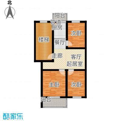 金美程家园78.75㎡D2a户型3室2厅1卫