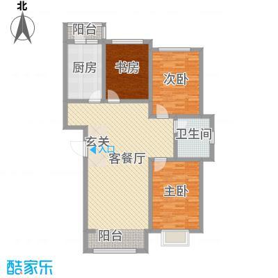 包豪斯国际社区120.87㎡包豪斯国际社区户型图B~户型图3室2厅1卫户型3室2厅1卫