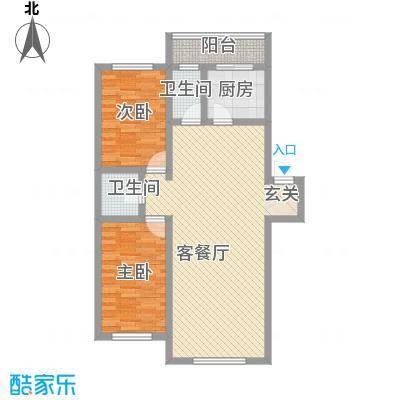 新月花园104.00㎡新月花园户型图2室2厅2卫1厨户型10室
