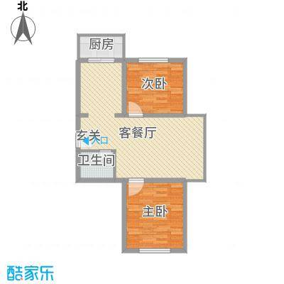 温馨花园二期78.02㎡温馨花园二期户型图B区户型图2室2厅1卫户型2室2厅1卫
