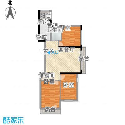 地铁名典小区116.02㎡J户型3室2厅1卫1厨