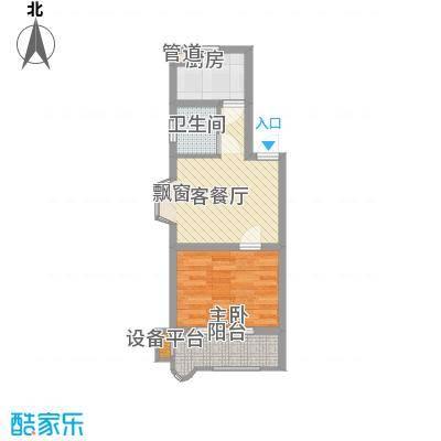 长鑫美树园51.14㎡长鑫美树园户型图1室1厅1卫1厨户型10室