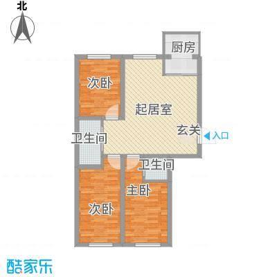 温馨花园二期90.40㎡温馨花园二期户型图C区户型图3室1厅2卫户型3室1厅2卫