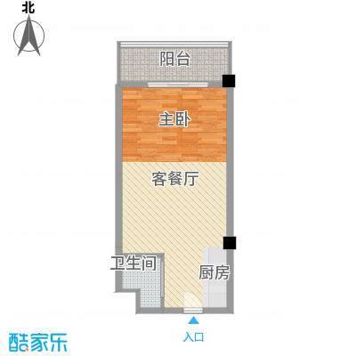 马塞公寓61.10㎡I户型1室1厅1卫1厨