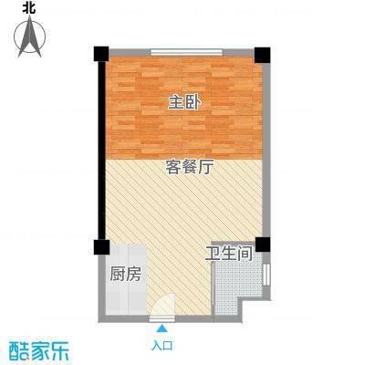 马塞公寓79.34㎡G户型1室2厅1卫1厨