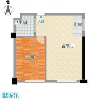 马塞公寓87.22㎡C户型1室2厅1卫1厨