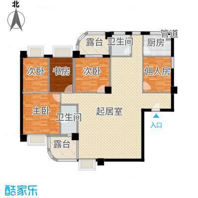 南明苑静和园179.81㎡5室2厅2卫1厨户型5室2厅2卫1厨