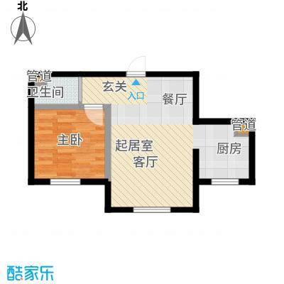 龙城富苑50.43㎡C户型1室2厅