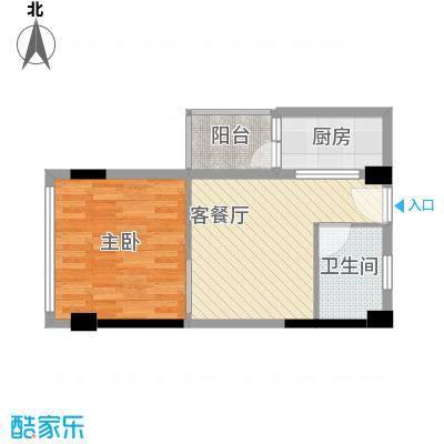 一米阳光快乐家园57.80㎡多层F户型1室1厅1卫1厨
