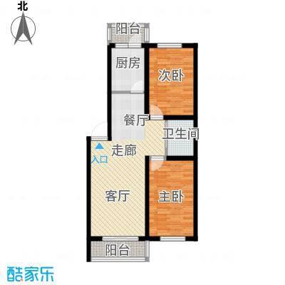 望博园88.29㎡多层户型2室2厅1卫1厨