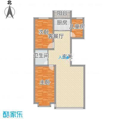 都市华尔兹146.70㎡都市华尔兹户型图3室2厅1卫户型10室