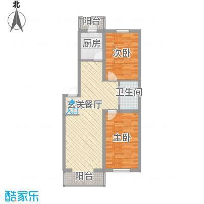 阳光御景83.70㎡3号楼B1-B4户型2室2厅1卫
