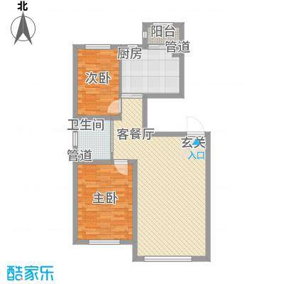 兆丰嘉座93.00㎡1、5号楼户型2室2厅1卫