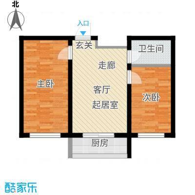 望博园62.86㎡多层户型2室1厅1卫1厨